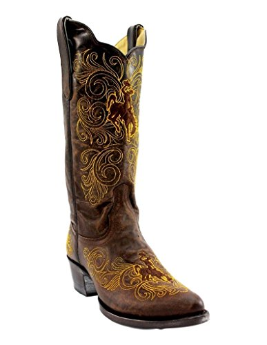 """Gameday Boots NCAA Wyoming Cowboys Womens WY-L328Ladies 13"""" University of Wyoming"""