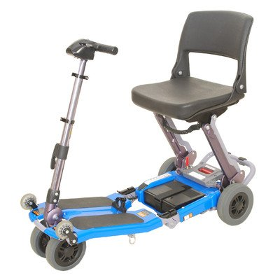 FreeRider USA FR168-4IT Elite Luggie with Charger and Armrest Set, Blue