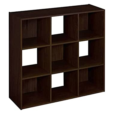 ClosetMaid (8937) Cubeicals Organizer, 9-Cube - Espresso