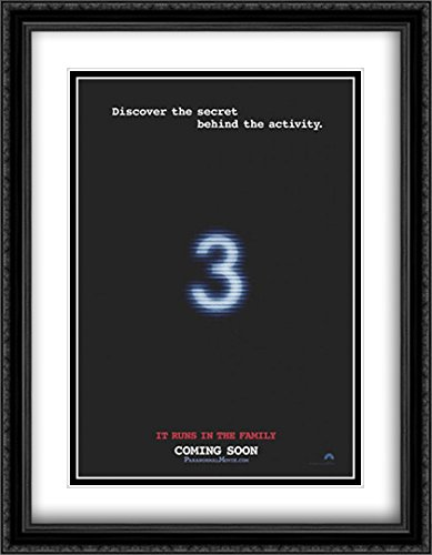 Paranormal Activity 3 28x36 Double Matted Large Large Black Ornate Framed Movie Poster Art Print by ArtDirect