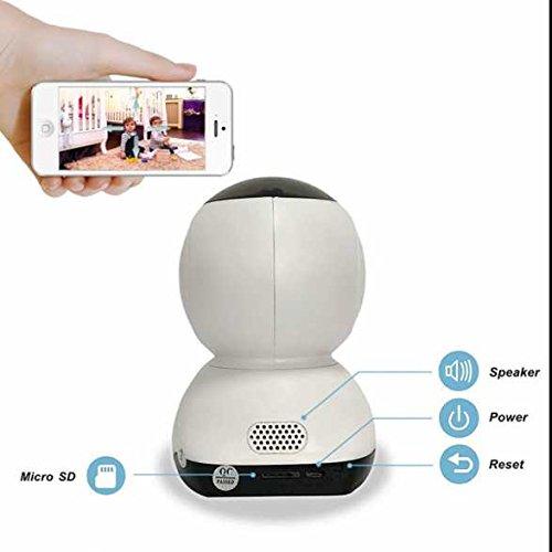 720P HD WiFi Home Security Überwachungskamera Zwei Wege Video,bidirektionaler Sound,eingebaute Infrarotbeleuchtung,drahtlos Alarmanlagen,Aufnahme funktion,Remote-Wiedergabe