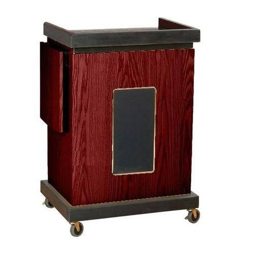 Oklahoma Sound SCL-S-My Smart Cart Lectern with Sound, 28'' Width x 41'' Height x 21'' Depth, Mahogany by Oklahoma Sound