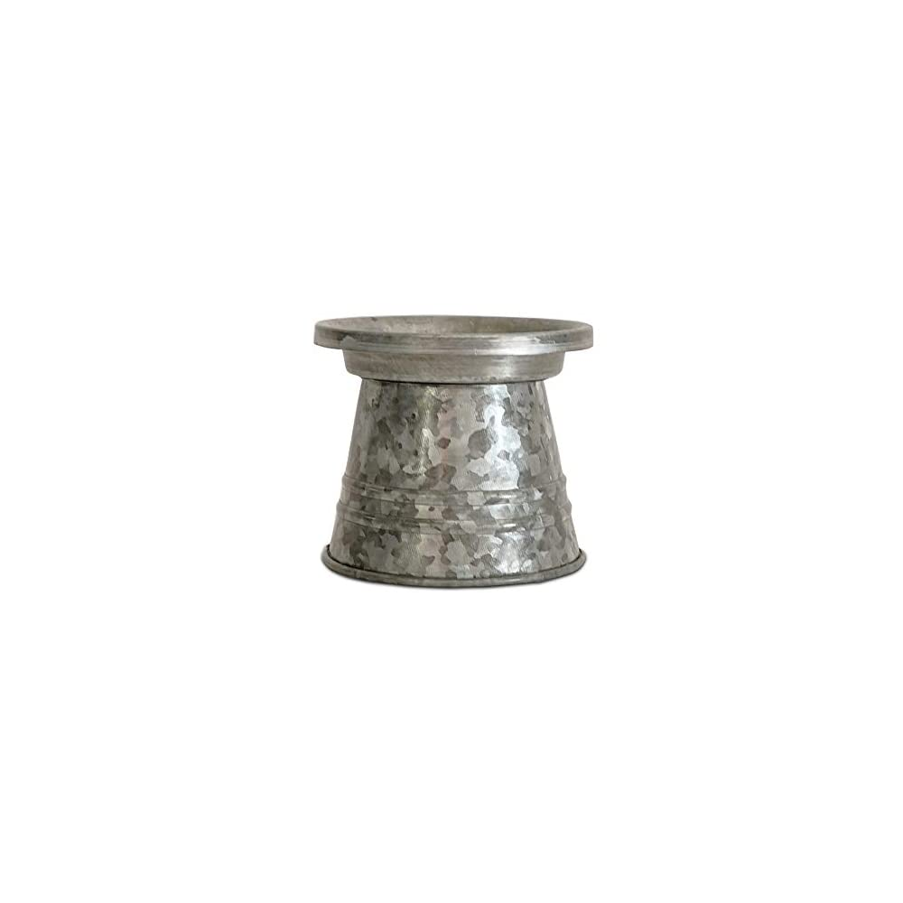 NIRMAN Rustic Farmhouse Galvanized Candle Holder, Candle Stand for LED & Wax Candles, Incense Cones, Spa, Weddings…