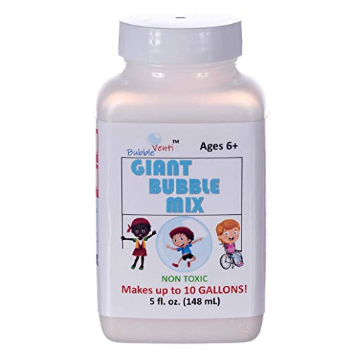 BubbleVenti Giant Bubble Mix | 100% Vegan Powder Makes up to 10 Gallons of Premium Biodegradable, Non-Toxic Big Bubble Solution | Use in All Bubble Wands + Toys | Best with E-Know Giant Bubble Wands