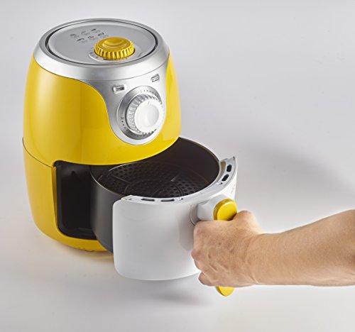 Ariete 4615 Airy Fryer Mini, Friggitrice ad aria senza olio, 1000 W, Capacità 2 Litri, Facile da pulire, Giallo 5