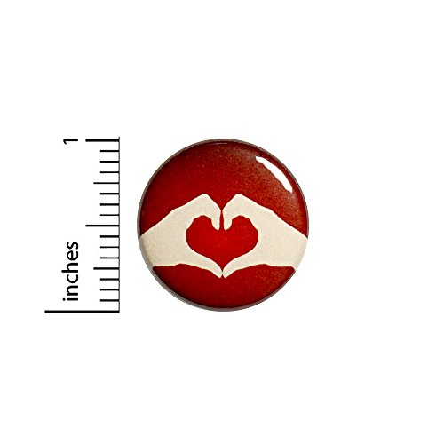Pinback Love Button (Heart With Hands Button Backpack Pin Cute Rad Love Jacket Pinback 1