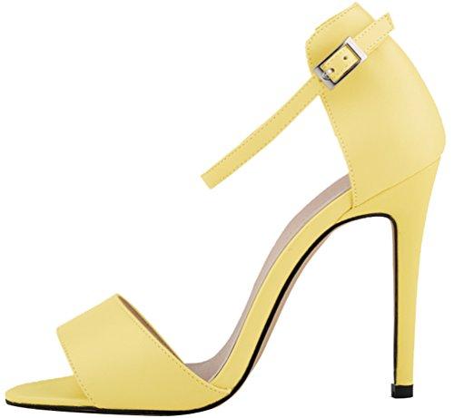 Cosy High 102 Yellow Prom Traspirante Summer Sposa Cfp Moda Womens Stylish Antifatigue Da Daily Heel Leisure Spike Stiletto Toe Wrap Easy Sandalo Regolabile Buckle Yse 2yg Open Ankle q4xxw5IpC