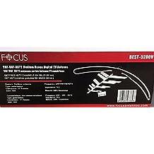 FocusAntennas BEST-5200V HD Medium Range Indoor/Outdoor (50 mi/80 km) UHF/VHF HDTV Antenna