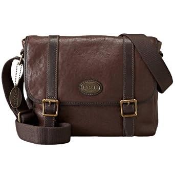 Fossil ESTATE Braun Herren Messenger Bag Umhängetasche