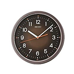 SEIKO Ultra-Modern Wall Clock with Quiet Sweep, Black