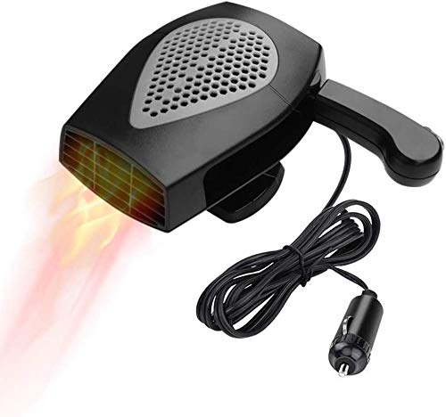Car Heater, Portable Auto Electronic Heater Fan Fast Heating Defrost 12V 150W Car Defrost Defogger, Plug Adjustable Thermostat in Cigarette Lighter, 2 in 1 Heating/Cooling Function 3-Outlet (Black)