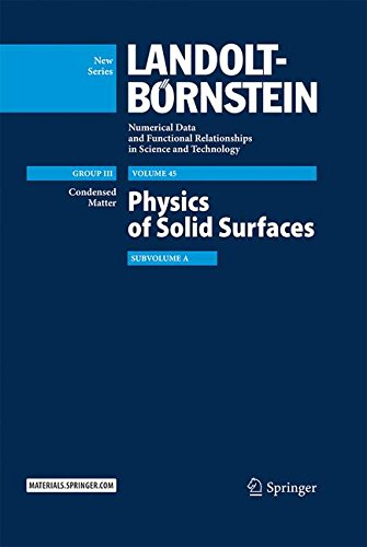 Physics of Solid Surfaces: Subvolume A (Landolt-Börnstein: Numerical Data and Functional Relationships in Science and Technology - New Series)