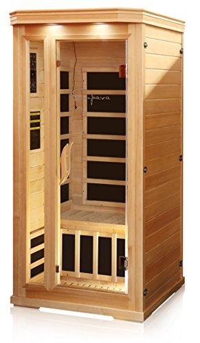 Empava 1-2 Person Far Infrared Sauna 6 Carbon Fiber Heaters Canadian Hemlock Wood Dry Sauna Room EMPV-SR-T1