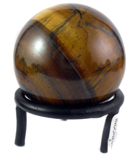 Mystic Gazing Ball - Tiger's Eye Stone -Highly Polished Universal Energy Sphere- ONLY 100 IN STOCK THIS HOLIDAY SEASON with FREE STAND A GREAT GIFT by Gypsy Palace