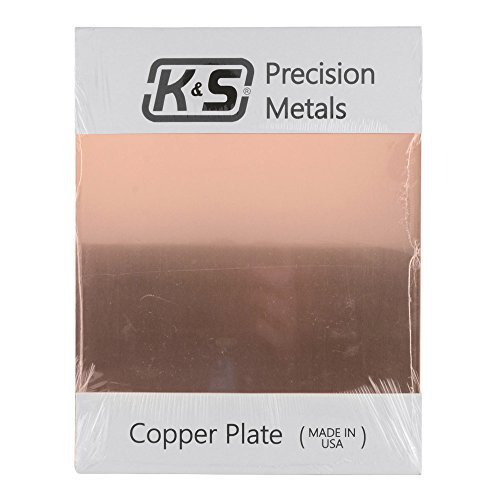K&S 6604 Copper Etching Plate, 0.050
