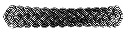 Celtic Braid Bar Hair Clip - Large Hand Crafted Metal Barrette Made in the USA with imported French Clips By Oberon Design … by Oberon Design