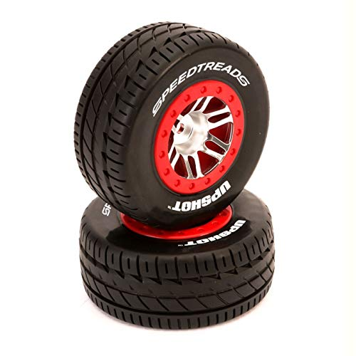 Duratrax SpeedTreads Upshot SC Tire Mounted (2): Traxxas Slash/Rustler 4X4 Front Rear ECX, DTXC2953