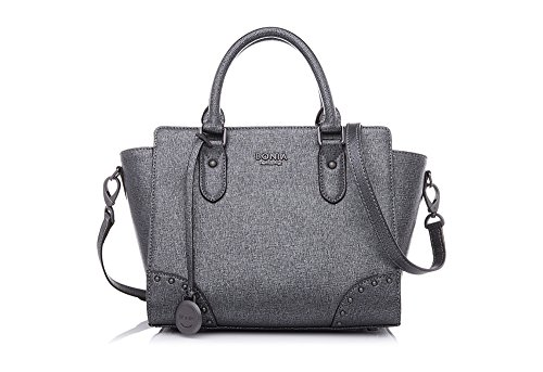 bonia-womens-sophia-leather-satchel-one-size-gun-metal