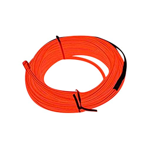 Lysignal 16ft Neon Glowing Strobing Electroluminescent Light Super Bright Battery Operated EL Wire Cable for Cosplay Dress Festival Halloween Christmas Party Carnival Decoration (Red)