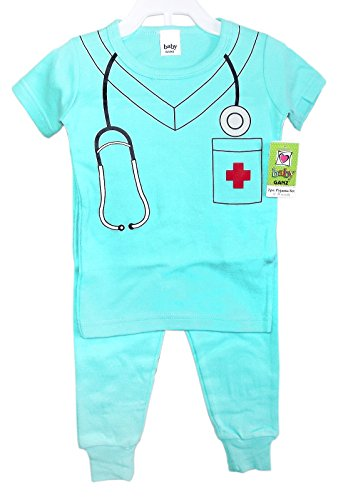 Wee Professional Pyjamas Baby 2 Piece 12-18 Months Pajama Set (Doctor (Light Blue)) (Doctor Outfit)