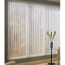 Made-to-Order Super Saver Vertical Blinds, Ribcord, 33W x 51H, White