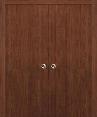 Moderna puerta de armario de doble bolsillo | Planum 0010 nogal ...
