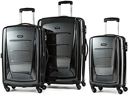 Samsonite Luggage Winfield 2 Fashion 3 Piece Set, Black, One Size