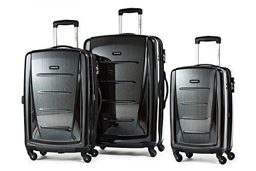 Price comparison product image Samsonite Luggage Winfield 2 Fashion 3 Piece Set,  Black,  One Size