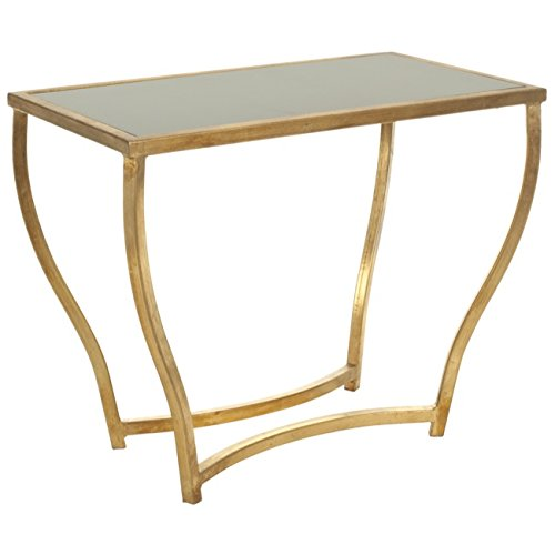 - Safavieh Home Collection Rex Black andGold Accent Table