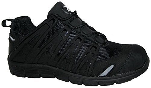 In Work Ultra Light Groundwork Puntale Black Lace Saftey Scarpe Trainer Acciaio V Weight 4qxI5IX