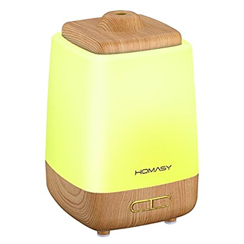 Homasy Night Light Aroma Essential Oil Diffuser, 200ml Cool Mist Humidifier Whisper-Quiet, Waterless Auto Shut-off for Spa Home Office (Appliances)