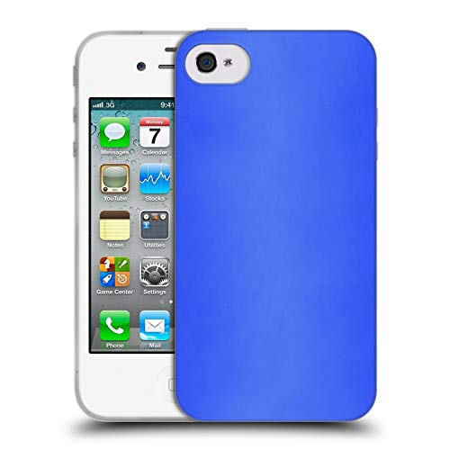Official Beli Blue Morocco Textures Soft Gel Case Compatible for iPhone 4 / iPhone 4S (Iphone 4s Case Bmo)
