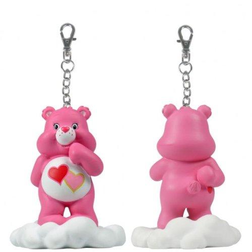 Care Bears Figure: Share A Bear Series 2 - Pink Love-a-lot Bear on Cloud Clip