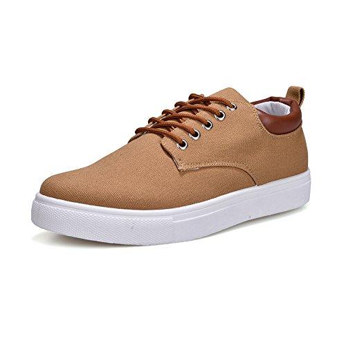 Hombre Unisex Canvas Deporte shoes Zapatillas Ocasionales Para Caqui Hombres De Zapatos Planos Estilo Lace Tobillo Deportivos Up Amantes 2018 Los Shufang 7wTqAHpII