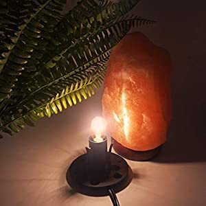 Haraqi Himalayan Salt Lamp Cords (6ft) with Dimmer Switch,Original Replacement Cords with Base Assembly(3.34 Inches) and 25 Watt E12 Bulbs for Salt Rock Lamp,UL-Listed Cord 2 Set