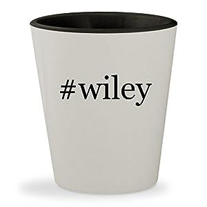 #wiley - Hashtag White Outer & Black Inner Ceramic 1.5oz Shot Glass