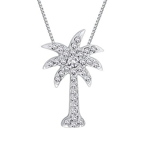 14k Palm Tree (Diamond