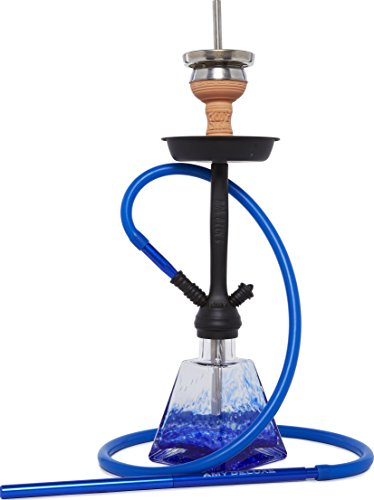 AMY 038 I Need You Klick Shisha Wasserpfeife (Blau Schwarz matt)