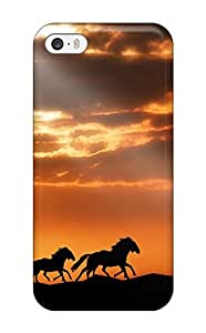 Sanp On Case Cover Protector For Iphone 5/5s (horses)