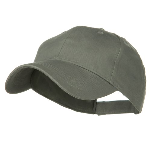 Youth Brushed Cotton Twill Low Profile Cap - Grey OSFM