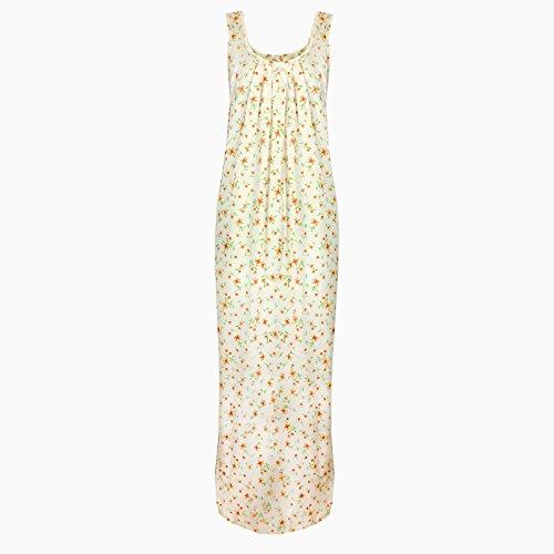 El Orange etiquetas para New para mujer pijamas Ladies Sleevelss algodón camisón semitransparente camisón transparente 18–�?2 Coral Flower Print