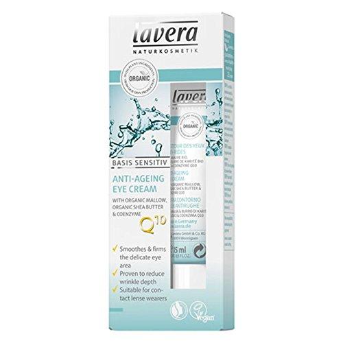 Lavera Basis Sensitiv Anti-Ageing Eye Cream, 0.5 Ounce