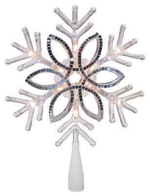Sylvania Inliten-Import V49420-88 Christmas Tree Topper, Acrylic Snowflake, 10-in. - Quantity 12