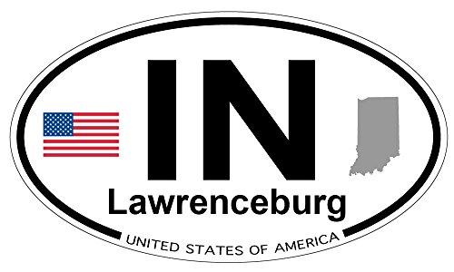 Lawrenceburg, Indiana Oval Sticker