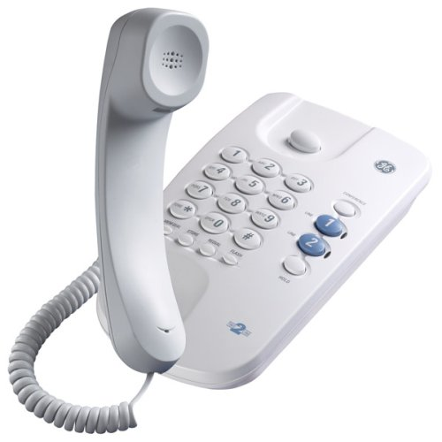 GE 29480GE1 2-Line Corded Telephone with 3-Way Call Conferencing - 29480ge1 2 Line