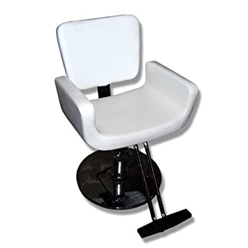Silla de barbero peluqueria MST- 630 Color blanco: Amazon.es ...