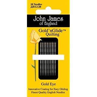 John James Gold'n Glide Quilting Needles-Size 9
