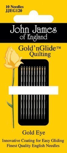 Eye Needles Gold (John James Gold'n Glide Quilting Needles-Size 9)