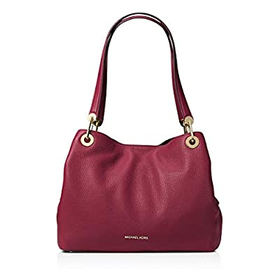 MICHAEL Michael Kors Womens Raven Pebbled Organizational Tote Handbag