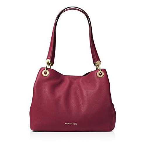 MICHAEL Michael Kors Womens Raven Pebbled Organizational Tote Handbag Red - Kors Bags Michael Cheap